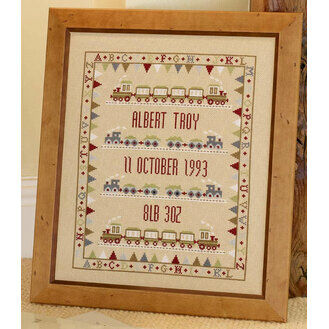 Bunting Train Sampler Cross Stitch Kit
