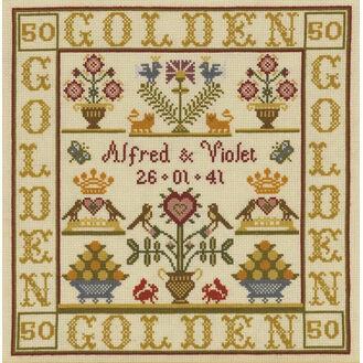 Golden Anniversary Sampler Cross Stitch Kit