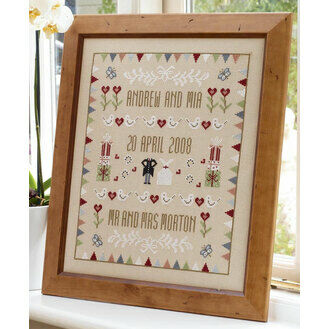 Horseshoe Wedding Sampler Cross Stitch Kit