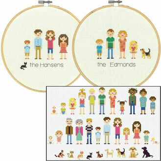 All In The Family Cross Stitch Hoop Kit