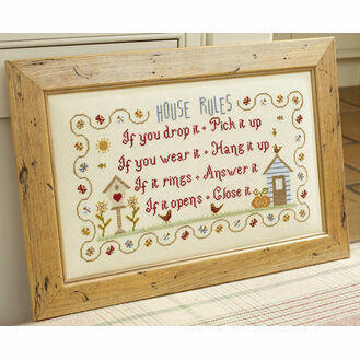 House Rules Cross Stitch Kit