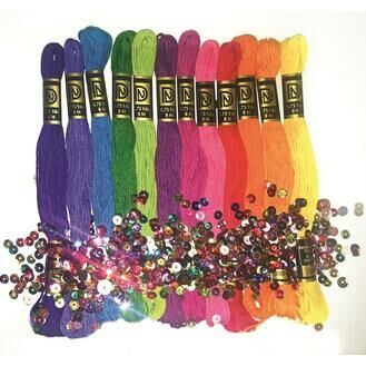 Brights Trim Pack (12 skeins of stranded cotton thread)