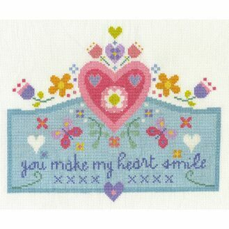 You Make My Heart Smile Cross Stitch Kit