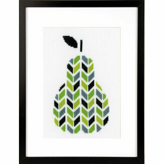 Modern Pear Cross Stitch Kit