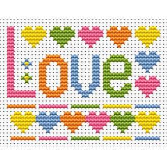 Sew Simple Love Cross Stitch Kit