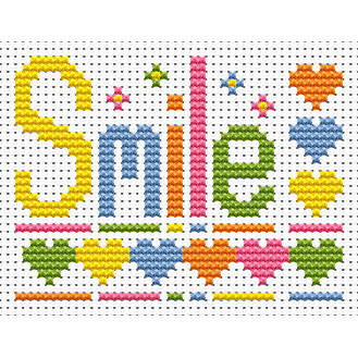 Sew Simple Smile Cross Stitch Kit