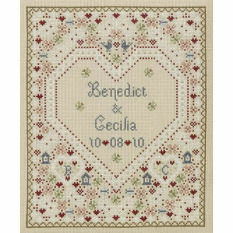 Confetti Wedding Sampler Cross Stitch Kit