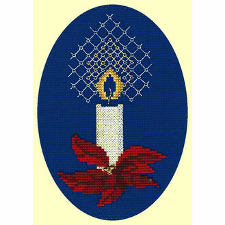 Candle Cross Stitch Card Kit