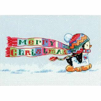 Christmas Penguin Cross Stitch Kit