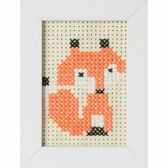 Fox Felt Cross Stitch Kit With Frame