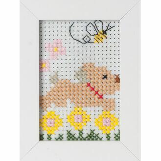 Dog Felt Cross Stitch Kit With Frame