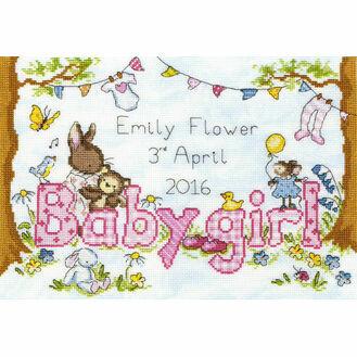 Bunny Love Girl Cross Stitch Kit
