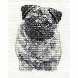 Pug Cross Stitch Kit