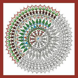 Zenbroidery - Christmas Mandala Fabric Pack