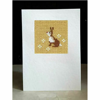 Lettice The Rabbit Mini Beadwork Embroidery Card Kit