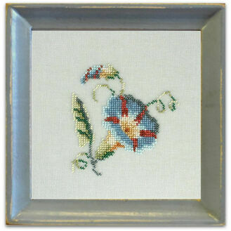 Morning Glory Beadwork Embroidery Linen Kit