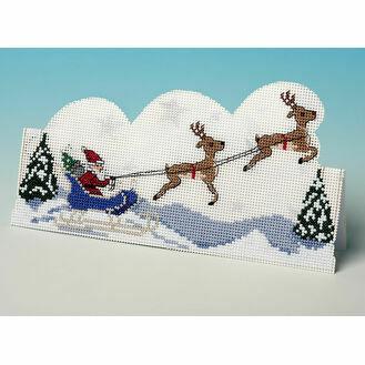 Sleigh Ride 3D Cross Stitch Card Kit