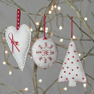 Christmas Trio Felt Decoration Craft Kit