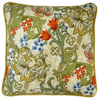 Golden Lily Flower Tapestry Panel Kit