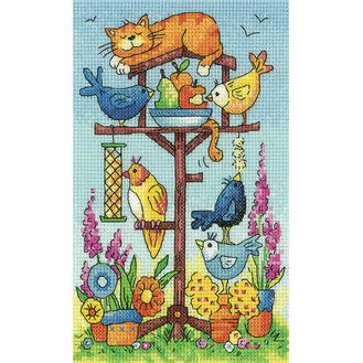 Bird Table Cross Stitch Kit