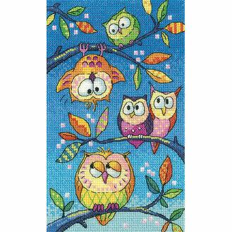 Hanging Around Owls Cross Stitch Kit