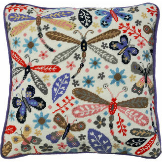 Dragonflies Tapestry Cushion Front Kit