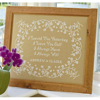 I Loved You Yesterday Cross Stitch Kit