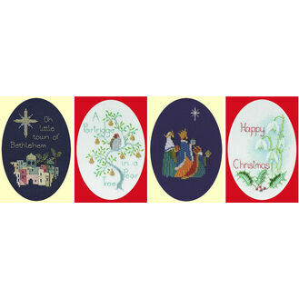 Christmas Selection Set Of 4 Cross Stitch Card Kits