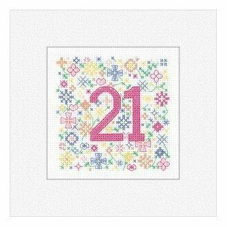 21st Birthday Card Cross Stitch Kit