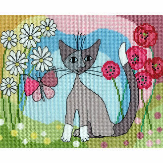 Lazy Daisy Cross Stitch Kit