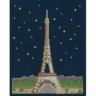 Paris By Night Glow In The Dark Cross Stitch Kit