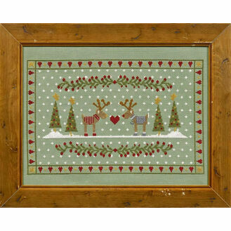 Reindeers In Love Cross Stitch Kit