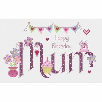 Mum Birthday Cross Stitch Kit