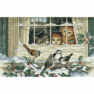 Three Bird Watchers Cross Stitch Kit