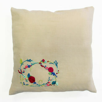 Rose Garland Embroidery Cushion Kit