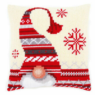 Christmas Elf 1 Chunky Cross Stitch Cushion Panel Kit