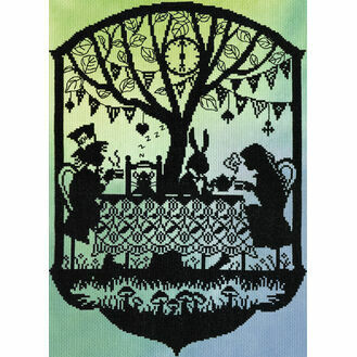 Mad Hatter's Tea Party (P) Cross Stitch Kit