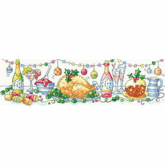 Christmas Dinner Cross Stitch Kit