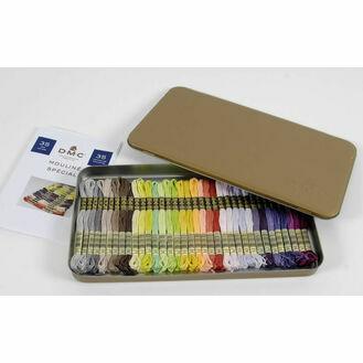 Prestige Metallic Gift Box With 35 New DMC Colours