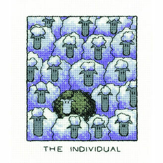 'The Individual' Sheep Cross Stitch Kit