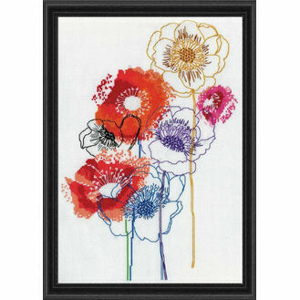 Modern Floral Cross Stitch Kit