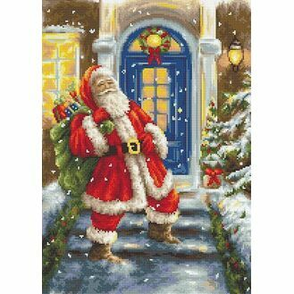 Santa\'s Visit Cross Stitch Kit