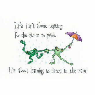Dancing In The Rain Cross Stitch Kit