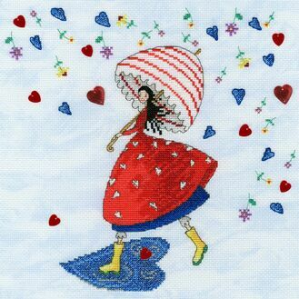 Flower Rain Fairy Cross Stitch Kit