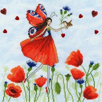 Summer Meadow Fairy Cross Stitch Kit