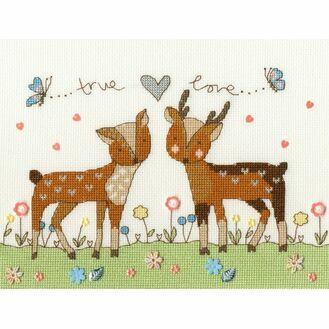Love You Deerly Cross Stitch Kit