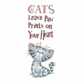 Cats Paw Prints Cross Stitch Kit