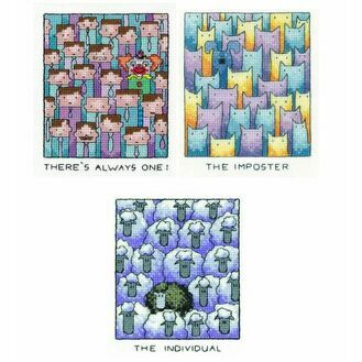 Set Of 3 - Always One, The Imposter & The Individual Cross Stitch Kits