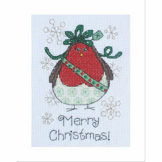 Aggie Robin Cross Stitch Christmas Card Kit