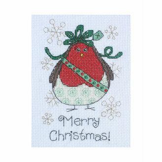 Alfie Robin Cross Stitch Christmas Card Kit